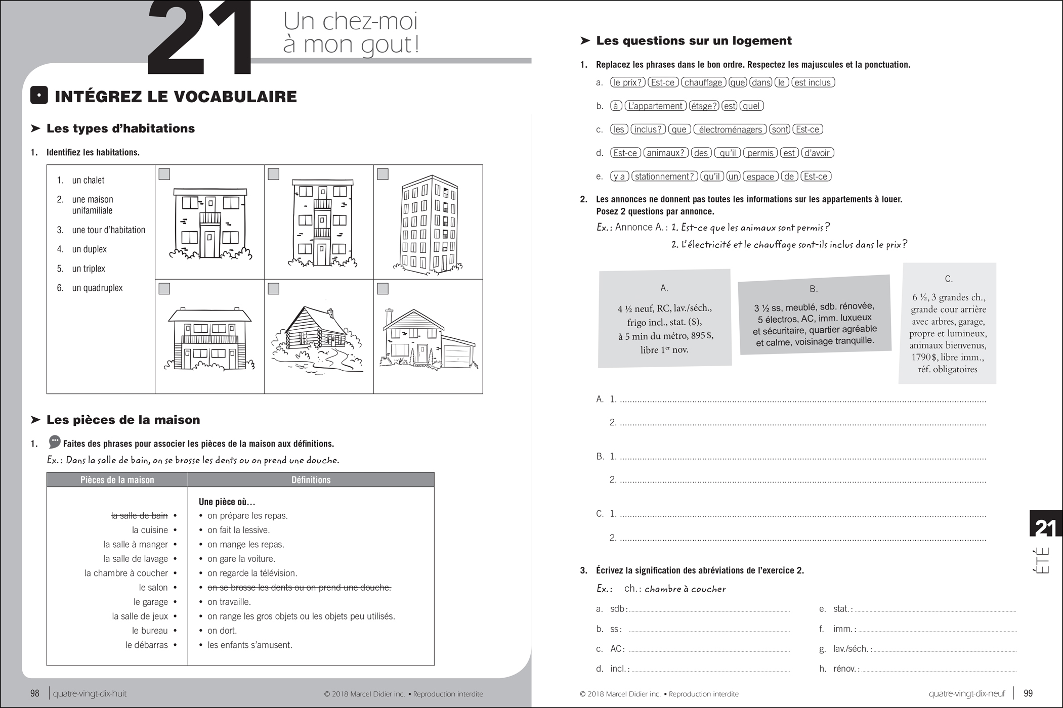 Par ici – exercise book A2/3-4