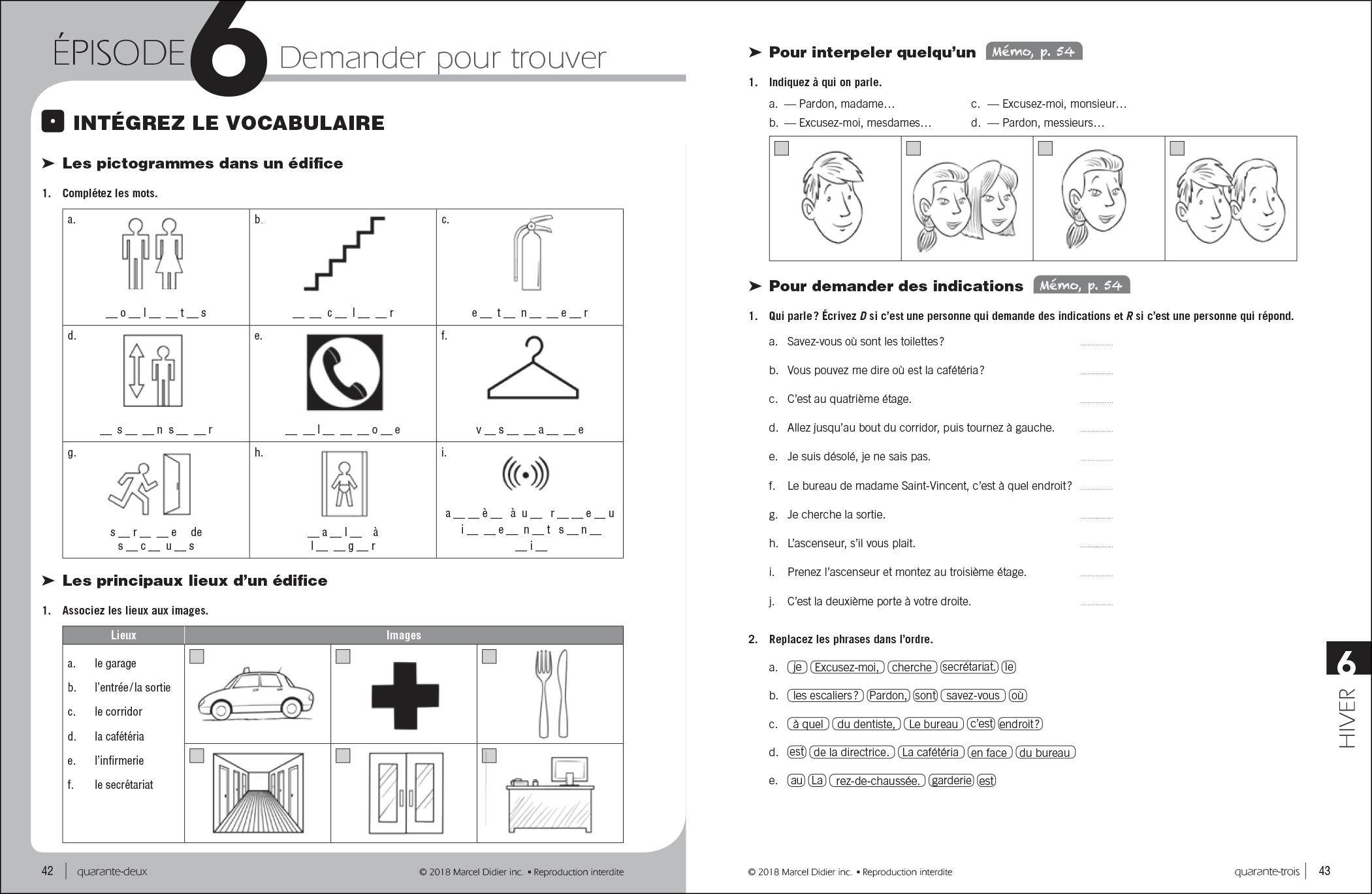 Par ici – cahier d'exercices A1/1-2