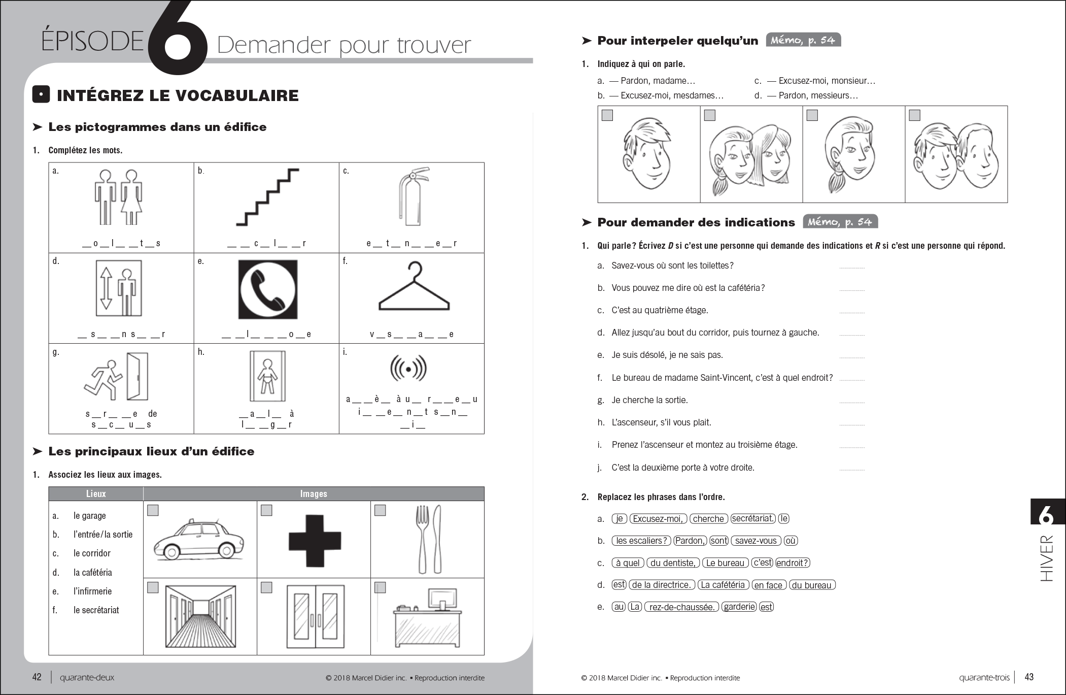 Par ici – exercise book A1/1-2